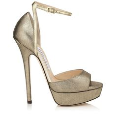 868ef613eb64 Pearl 145 Platform Sandals in Gold Shimmer Leather. Discover our Autumn  Winter