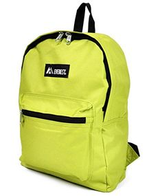 Solid Colored Backpack Lime >>> Be sure to check out this awesome product.