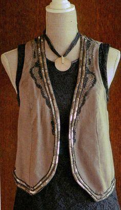 Patrones de Costura: CÓMO HACER UNA BLUSA CON COSTADILLOS A LA SISA Fashion Details, Beaded Necklace, Couture, Jackets, Inspiration, Jeans, Style, Cape Clothing, Vestidos