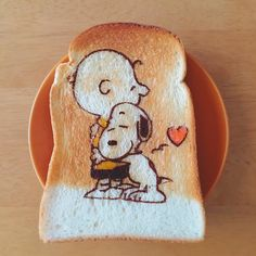 BFF Snoopy toast art by (@fuki_kuma0036)