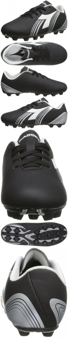 13a6732b1557 Diadora Soccer Avanti MD JR Soccer Shoe (Toddler/Little Kid/Big Kid),Black/White/Silver,3  M US Little Kid