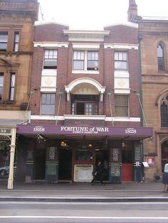 Fortune of War Pub, The Rocks, Sydney www.pinterest.com/wholoves/Sydney #sydney #australia