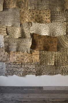"Exhibition view, ""The Stuff That Matters. Textiles collected by Seth Siegelaub…"