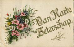 Van Harte Beterschap - a vintage get well Dutch postcard