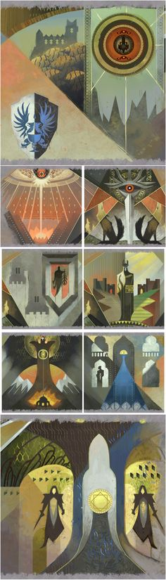 DRAGON AGE: INQUISITION FILE EXTRACTS - FRESCO PANELS