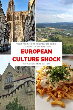 Are you a Canadian or an American traveller going to Europe for the first time? Get ready for a major European culture shock. Read on to discover main differences between the North American and European cultures so you know what to expect. Europe Travel Tips, Travel Advice, Travel Couple, Family Travel, Continental Europe, Culture Shock, France Europe, European Destination, Greece Travel