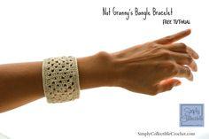 Not Granny's Bangle Bracelet | FREE Pattern by Celina Lane, SimplyCollectibleCrochet