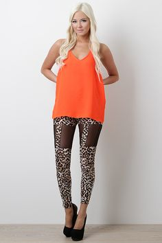 I love this entire outfit. Who knew orange would go so good with this.