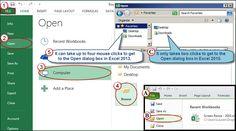 Timesaving File Menu Tricks in Excel 2010/2013   AccountingWEB