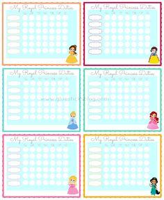 Printable Princess Chore Charts