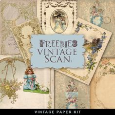 Freebies Vintage Romantic Paper Kit:Far Far Hill - Free database of digital illustrations and papers