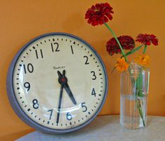 Industrial Simplex School Wall Clock  Vintage School by Retro2GoGo, $33.00