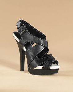 High Heel Platform Sandal with Crisscross Straps - Available in Additional Colors