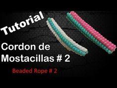 BeadsFriends: Tubular beadwork tutorial (Chenille Stitch) - A simple idea for a tubular beadwork - YouTube