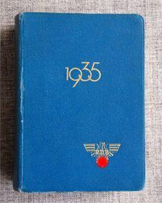 """Блокнот-календарь-ежедневник СЛУЖАЩИХ """"RDB"""" 1935 год 3 рейх."""