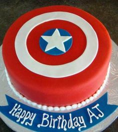 Captain America Birthday Cake Ideas (2)