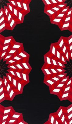Fläkta red/black interior fabric by Marimekko   Curtain fabrics