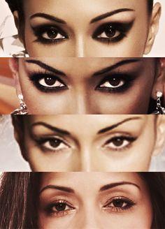 Nicole Scherzinger- different eye looks, same person