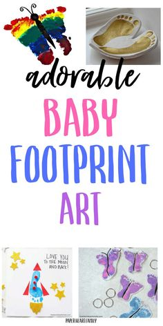baby art Adorable DIY baby footprint art ideas that you will love- make a great Christmas gift for dad, for Grandma or for mom on Mothers Day. A great baby keepsake to treasure forever. Make a butterfly, a rocket, and more! Diy Gifts For Dad, Diy Baby Gifts, Great Grandma Gifts, Grandpa Gifts, Boy Diy Crafts, Baby Art Crafts, Baby Crafts To Make, Infant Crafts, Dad Crafts