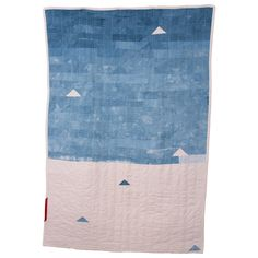 Forest & Found natural dyed, hand stitched indigo scrap quilt