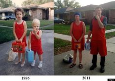 #interesting #cute #before #after #photos #moments #child Click here and see more: http://splendidbuzz.com/10-before-and-now-childish-moments-photos/