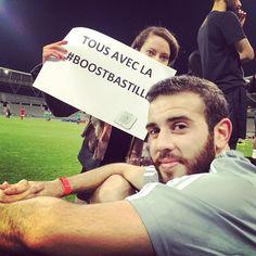 Le plus fort c'est notre Vince! #boostbastille!  (à Stade Sébastien Charléty)