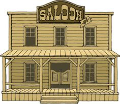 Risultati immagini per saloon Western Saloon, Old West Saloon, Old West Town, Old Town, Play Houses, Bird Houses, Old Western Towns, Westerns, Western Bedroom Decor