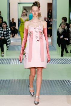 Prada Fall 2015 Ready-to-Wear - Collection - Gallery - Style.com  this styled with prada sheer shirt.