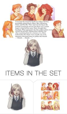 """""""Luna's friends"""" by music-books-life ❤ liked on Polyvore featuring art"""
