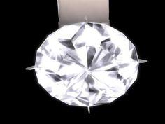secondlifeで私が製作したダイヤモンドのペンダントヘッド
