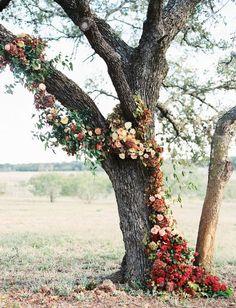 Fall abundant wedding ceremony decor / http://www.deerpearlflowers.com/wedding-ceremony-arches-and-altars/5/
