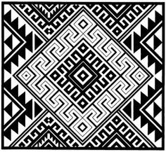 Ethnic Patterns, Bead Loom Patterns, Geometric Patterns, Geometric Designs, Textures Patterns, Swedish Weaving Patterns, Indian Artwork, Native American Patterns, Arte Tribal