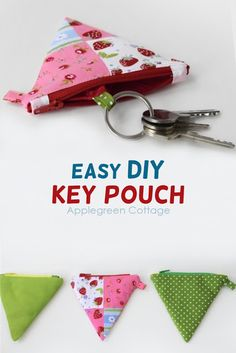 Sewing For Beginners Easy How to make a key pouch from a coin purse. Turn any coin purse into a key pouch using this easy sewing tip (one single detail does it all! Easy sewing project and a great diy gift. Easy Sewing Projects, Sewing Projects For Beginners, Sewing Hacks, Sewing Tutorials, Sewing Tips, Diy Projects, Sewing Ideas, Sewing Crafts, Pochette Diy