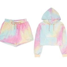 Cute Lazy Outfits, Teenage Girl Outfits, Crop Top Outfits, Girls Fashion Clothes, Teen Fashion Outfits, Outfits For Teens, Girl Fashion, Jugend Mode Outfits, Pastel Tie Dye