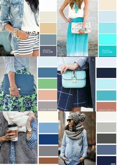 Ensembles Four Seasons Colour Combinations Fashion, Color Combinations For Clothes, Fashion Colours, Colorful Fashion, Color Combos, Wardrobe Color Guide, Color Palette Challenge, Fashion Vocabulary, Casual Outfits