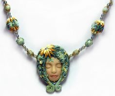 Studený porcelán - recept na hmotu + nápady na modelovanie - Modelárstvo - Majstrovanie | Hobby portál Homemade Jewelry, Cold Porcelain, Turquoise Necklace, Chain, Education, Faces, Necklaces, Onderwijs, Learning