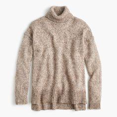 J.Crew Gift Guide: women's marled turtleneck sweater.