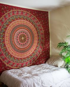 Red Pharaoh Mandala Tapestry $24.99 | www.thebohemianshop.com #HomeDecor #Bohemian