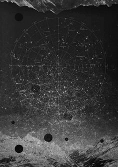 """""""Can you bind the cluster of the Pleiades, or loose the belt of Orion? Can you bring out the Mazzaroth in its season? Or can you guide the Great Bear with its cubs?"""" (Job 38:31-33)   Vintage Black and White Star Map   Cosmic Art Print   Celestial Antique   Astronomy & Astrology   Constellations"""