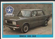 Panini Super Auto 1977 Sticker - No 81 - Vintage Car - Chrysler Simca 1005 GLS | eBay