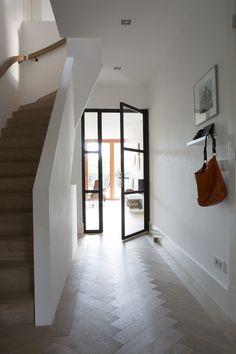 Modern hallway, entry hallway, entrance hall, white hallway, hallway id Modern Hallway, Entry Hallway, White Hallway, Hallway Ideas Entrance Narrow, Entrance Hall, Modern Barn House, Hallway Inspiration, Interior And Exterior, Interior Design