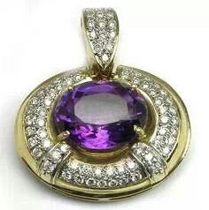 Amethyst and Diamond Pendant