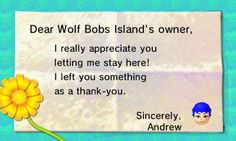 The camper left me a silver coin for letting him camp on my island.