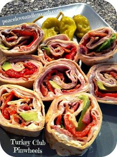 Peace, Love, and Low Carb: Low Carb Turkey Club Pinwheels