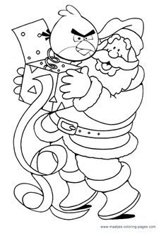 More Angry Birds Christmas Coloring Pages On Maatjes