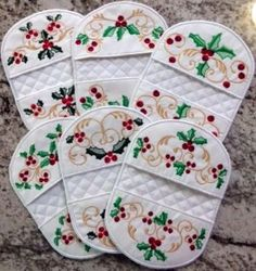 Awesome 10 sewing hacks tips are readily available on our site. Christmas Mug Rugs, Christmas Sewing, Christmas Kitchen, Christmas Christmas, Christmas Ornament, Sewing Patterns Free, Quilt Patterns, Quilted Potholders, Keepsake Quilting