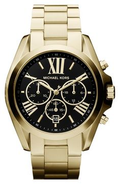 MICHAEL Michael Kors Michael Kors 'Bradshaw' Chronograph Bracelet Watch, 43mm available at #Nordstrom