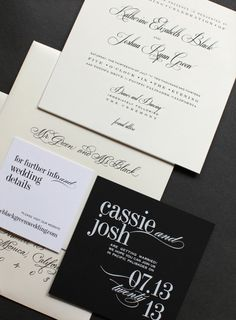 Unique Wedding Invitations - love the font on this invite