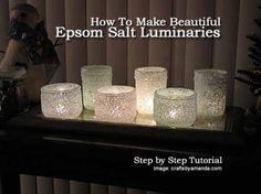 How To Make Beautiful Epsom Salt Luminaries