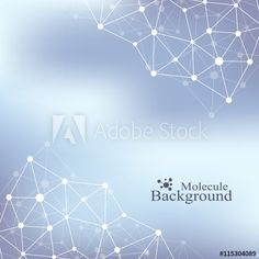 Graphic background communication. Structure molecule dna, neurons, atom. Social network information. Connected lines with dots. Medicine, science, technology design. Vector illustration